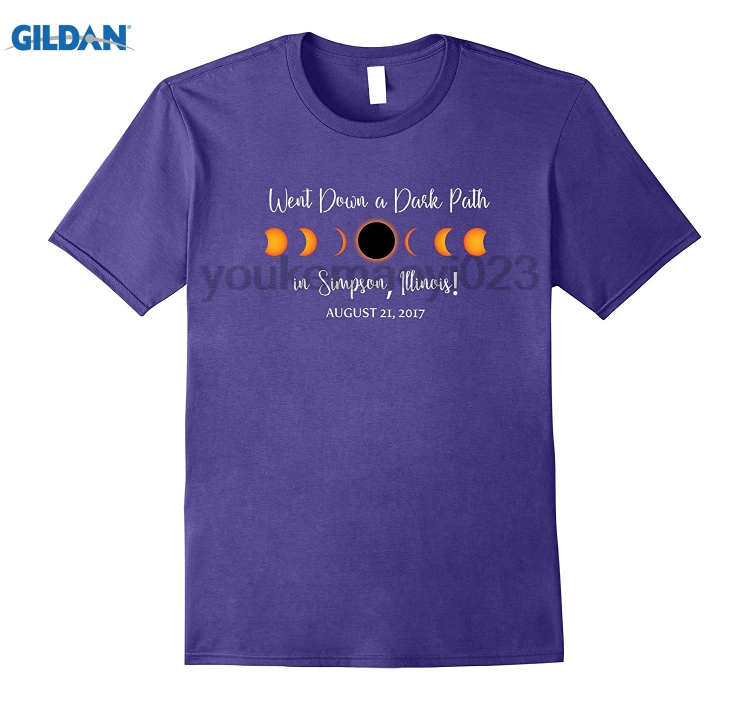 GILDAN Simpson, Illinois 2017 Solar Eclipse TShirt, T Shirt, Tee