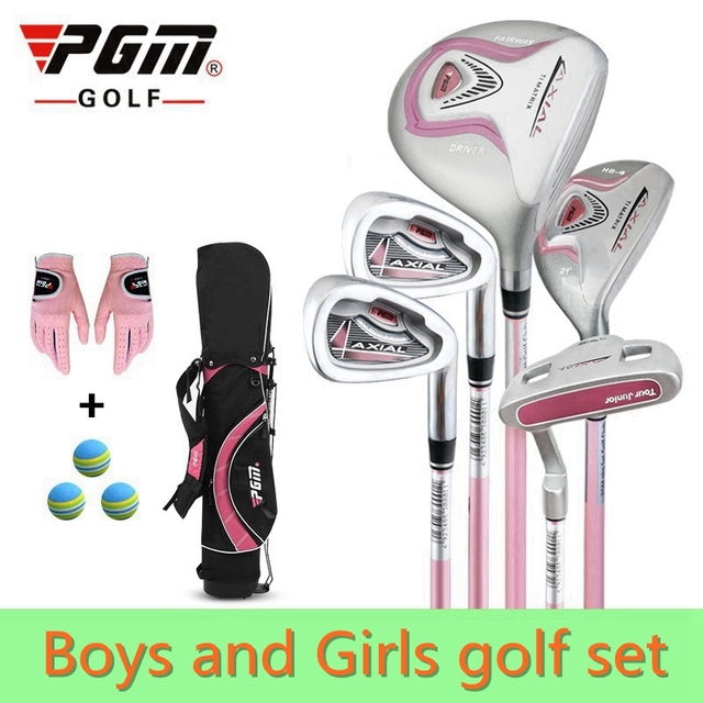 89c62ac4d73d PGM 5-pieces Junior Golf Clubs Set with Bag for Kids Graphite Shaft. Better  than steel shaft for kids. The safest kids golf sets