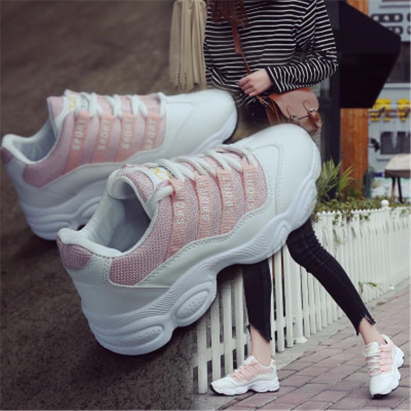 2 Sport Version Feu Voyage Super Coréenne Décontractées 6 Marée 1 De Springnew Blanches Femelle Chic Chaussures Planche 4 La 5 2018 3 Petite Chaussure 1YA8Wqw