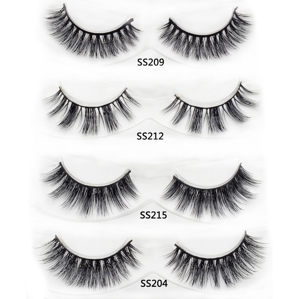 13 styles 1 pair Mink Lashes Black Natural Thick Mink ...