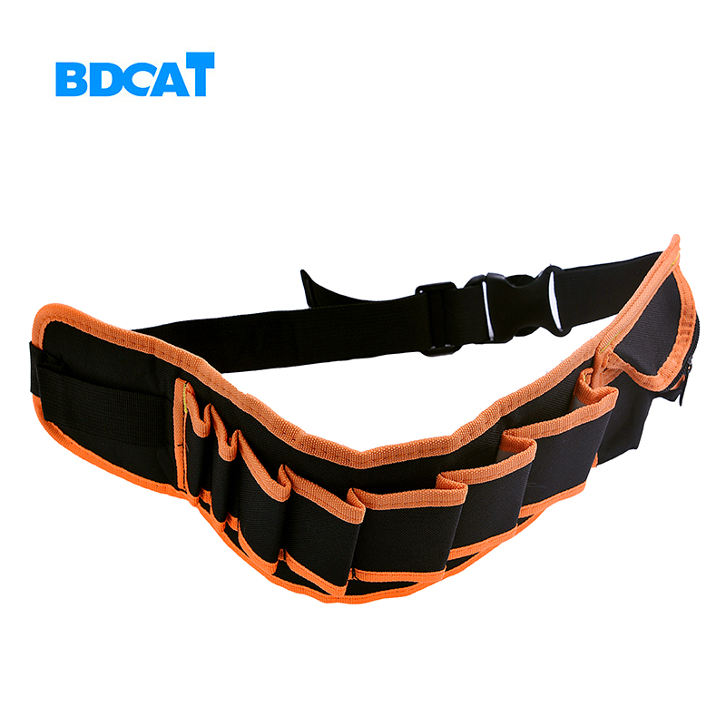 BDCAT Waist Carpenter Rig Hammer Tool Bag Pockets Electrician Tool Pouch Holder Pack Canvas Electrical Repair Pockets Waterproof 1pcs 14 inch appliances electrical repair bag after sales tool bag oxford cloth double canvas thickening tool kit