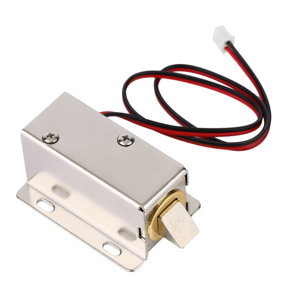 цена на Professional Small DC 12V 7.5W Open Frame Type Solenoid For Electric Door Lock with Low Power Consumption Stability