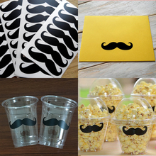 Vinyl Mustache Removable Wall Stickers,Birthday Baby Shower Decorations,Cup Decals, Wedding Envelope Sticker Seals