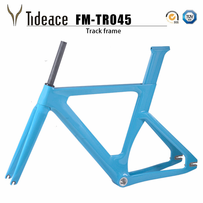 2019 new full carbon track frame Carbon Track Bike Frameset with Fork seatpost road carbon frames fixed gear bike frameset in Bicycle Frame from Sports Entertainment