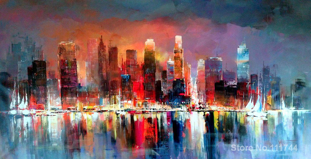 abstract art Oil paintings Skyline Willem Haenraets reproduction Handmade High qualityabstract art Oil paintings Skyline Willem Haenraets reproduction Handmade High quality