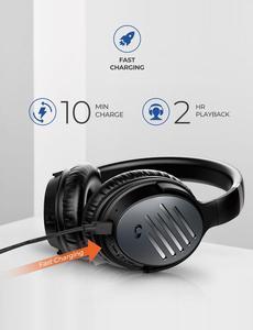 Image 2 - Mpow H16 ulepszone aktywne słuchawki z redukcją szumów szybkie ładowanie 30H czas odtwarzania bezprzewodowy/przewodowy zestaw słuchawkowy do telefonów komórkowych PC TV