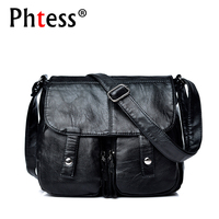 2018 Women Messenger Bags Black Leather Handbags Small Crossbody Bags For Women Bolsa Feminina Female Vintage