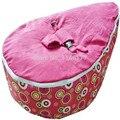 Mobília Dos Miúdos do bebê Para Alimentação Ywxuege Nova Chegada Pink Rainbow Dots Portátil Pufes Bebê/Infantil Assento Do Sofá Frete Grátis