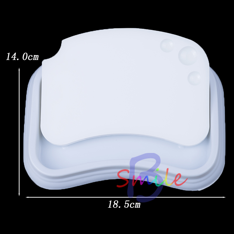 1 set Dental Material Ceramic Palette Mixing Plate Stain Powder Porcelain Mixing Detal Tool Wet Tray Best Quality