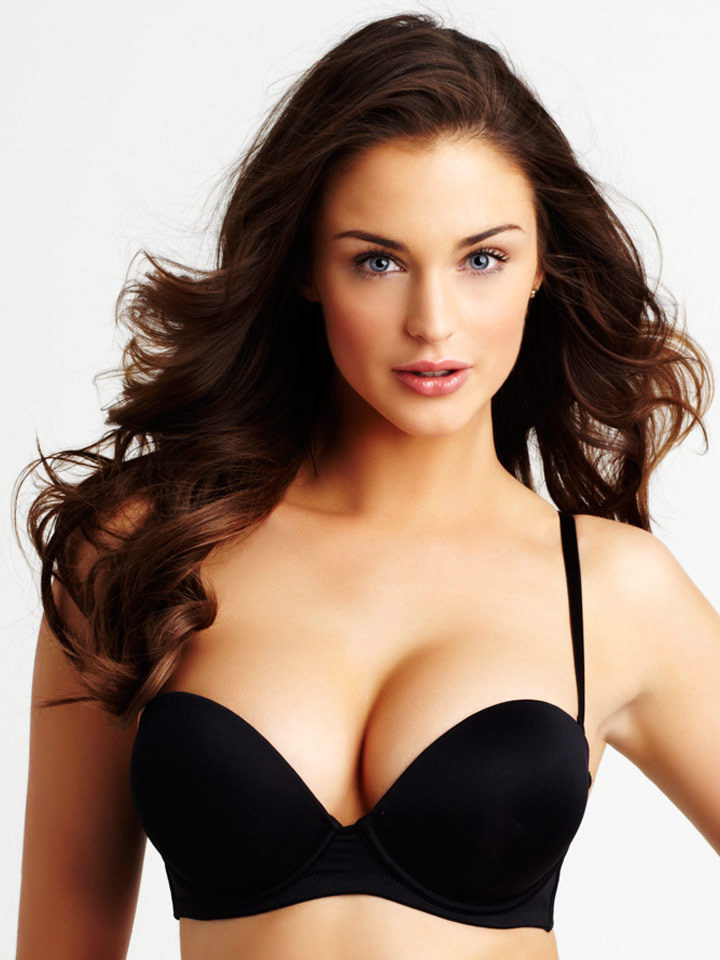4609f1993cff1 2 Cups Plus Smooth Huge Gel Pad Cleavage Push up Strapless Bra Black White  Beige Band 32 34 36 38 Cup A B C D