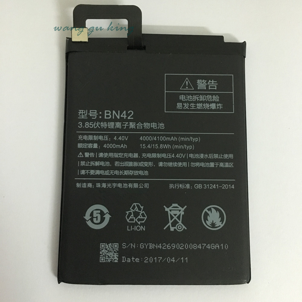 100% Pleine Capacité 4000/4100 mAh BN42 Batterie Pour Xiaomi Redmi 4 Xiao mi Hongmi 4 pour 2G RAM 16G ROM Édition