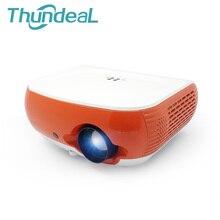 T60 ThundeaL 2200 Lúmenes Mini Proyector LED 3D de Cine En Casa Proyector TV Beamer Soporte HD 1080 P HDMI VGA AV USB SD Projetor Vídeo