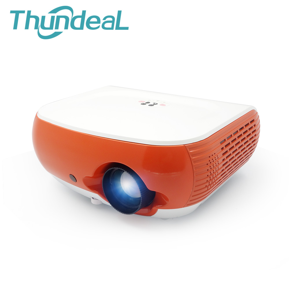 ThundeaL 2200Lumens T60 Mini Projector LED Home Cinema Proyector TV Beamer Support HD 1080P HDMI USB VGA AV SD Video W1 Projetor uc40 55whd 1080p mini home 1080p led projector 50lm w hdmi av sd usb