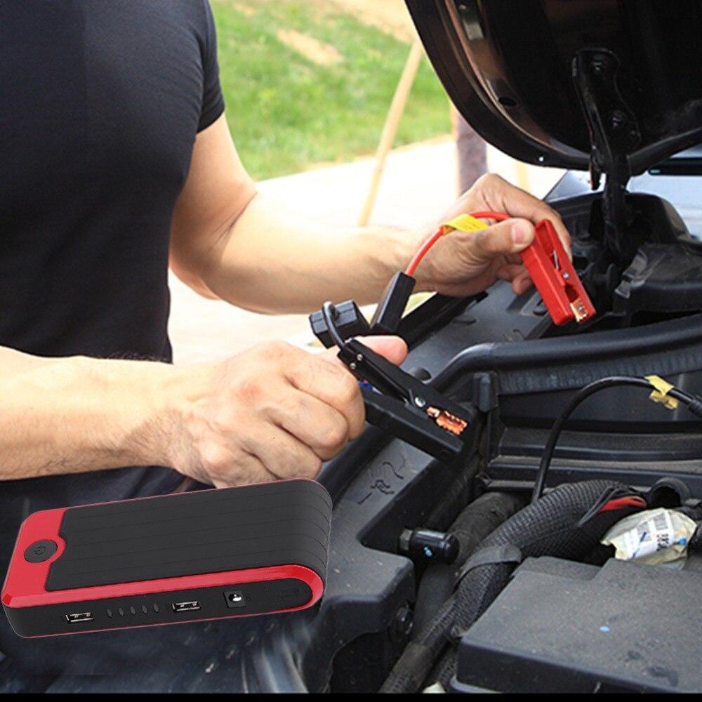 Nouveau Nouveau 50800 mah Portable Mini Taille Automatique Puissance Banque Batterie Véhicule D'urgence Chargeur De Voiture Jump Starter Booster Rouge