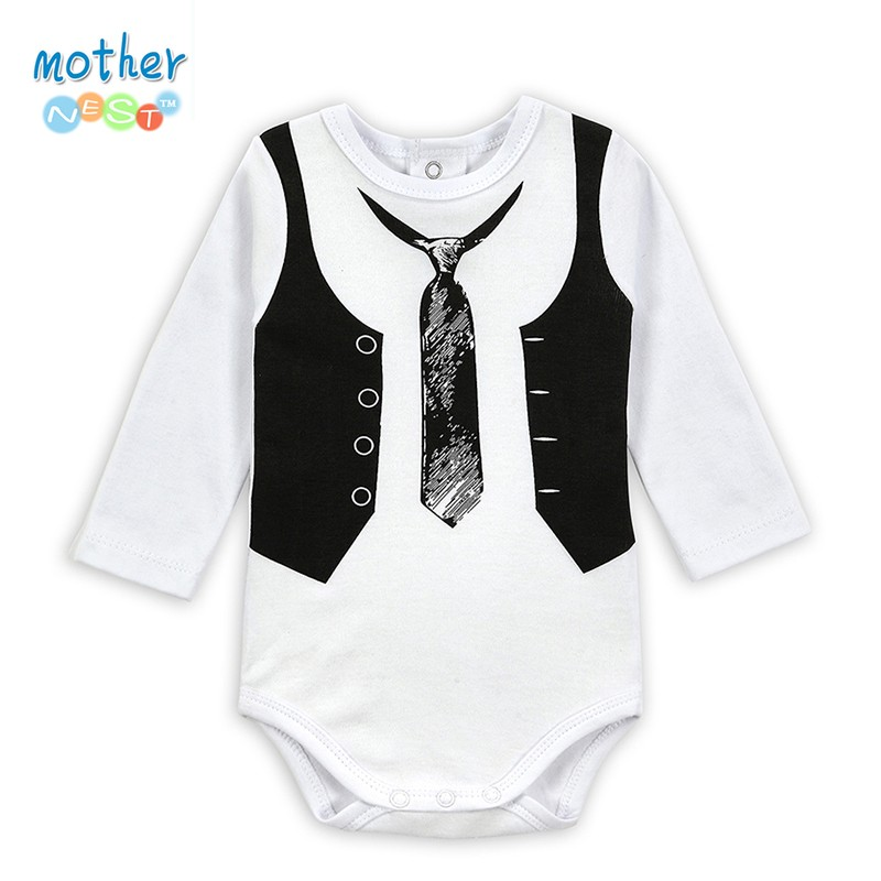 2PICSLOT Gentleman Long Sleeve Baby Boy Bodysuits Baby Boys Girls Clothes Spring Summer Children Jumpsuit Newborn Infant Body (3)