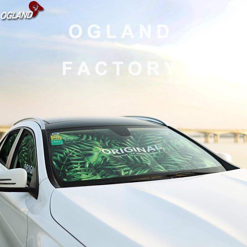 OPP Front Windshield Sun Visor 130 * 70 Car Sunshade Cartoon Car Sunshade Vehicle Sun Visor
