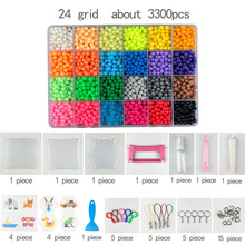 DIY Water spray beads Hand Making 3D diameter 5mm Aqua diy toy 3D Beads Puzzle Educational Toys for Children Spell Replenish