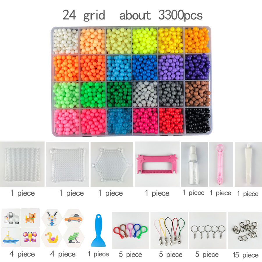 DIY Water Spray Beads Hand Making 3D Diameter 5mm Diy Toy 3D Beads Puzzle Educational Toys For Children Spell Replenish