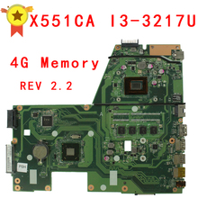 For ASUS F551C X551CA Motherboard with i3-3217 Processor 4G Memory on Board 60NB0340-MB6030