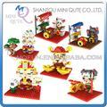 Ventas al por mayor 120 pc/lot Mix 6 modelos Mini Qute JOYA gato de la fortuna Budismo chino Matchmaker de plástico bloques de construcción de juguetes educativos