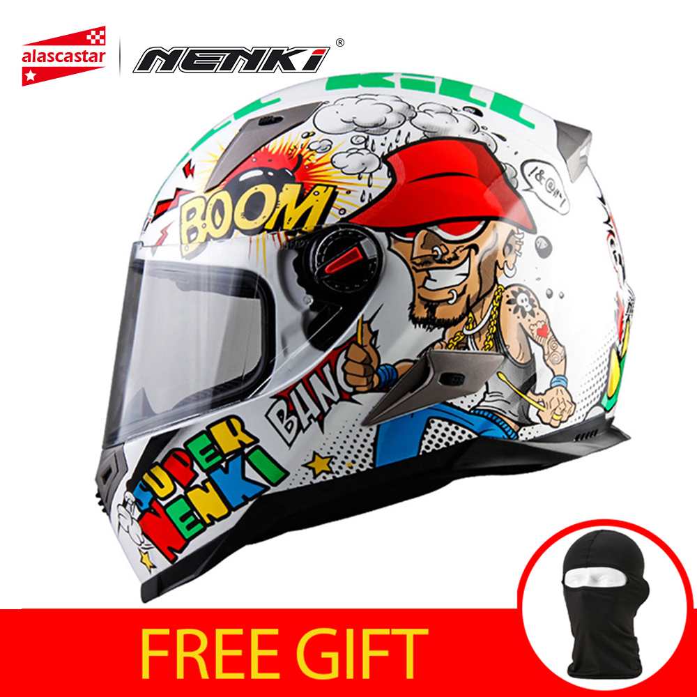 NENKI Motorcycle Helmet Men Women Motorbike Full Face Moto Helmet Racing Street Moto Casco Touring Chopper Scooter Helmet ECE стоимость