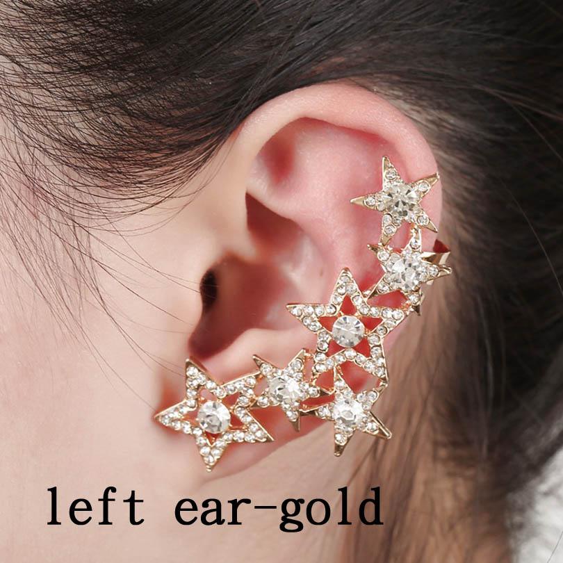Left ear gold