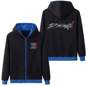 Image 4 - 뜨거운 판매 후드 애니메이션 darling에서 franxx 코스프레 까마귀 지퍼 스웨터 코트 hoody 스웨터 & 후드 5 색