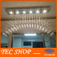 Best Price JH Clear K9 Crystal Chandeliers Arched Rectangle Crystal Ceiling Lamp LED Fixture Lighting Bar Light curtain lights