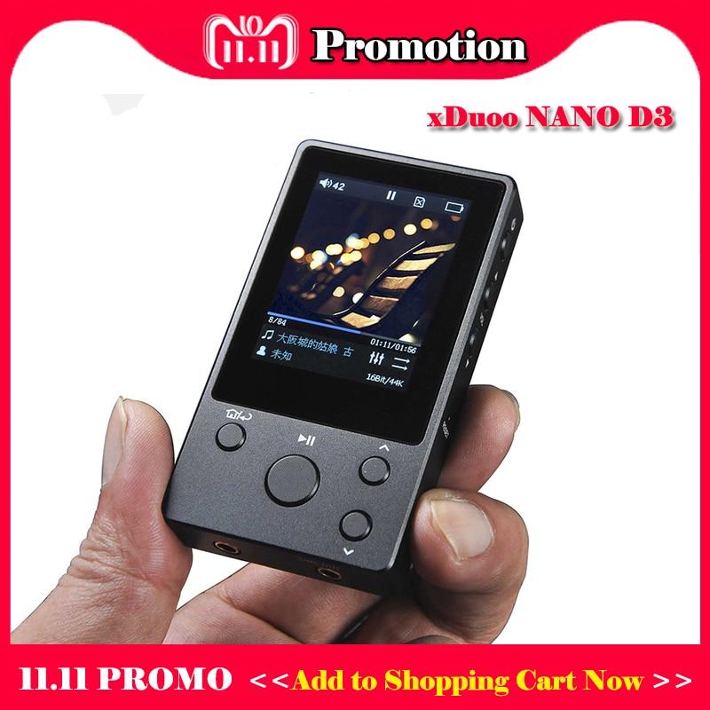 купить xDuoo NANO D3 hi fi player portable HD lossless music player hi-res mp3 player flac wav dsd player mp3 8gb по цене 5341.29 рублей
