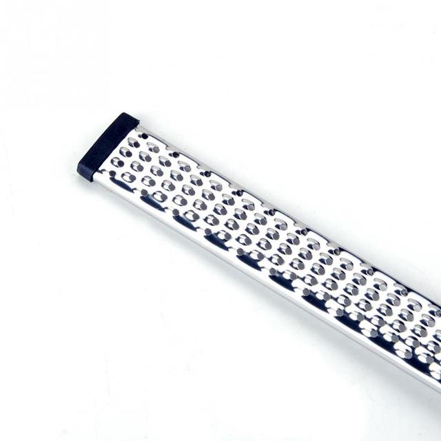 Stainless Steel Grater with Black Plastic Handle