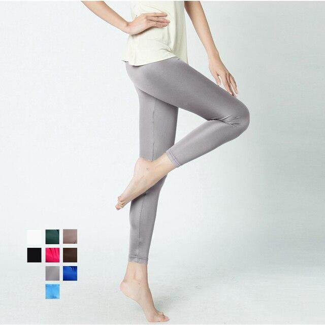 SILK women long Leggings Solid slim leggings Full length Plus size Anti emptied bottoming pants 100%REAL SILK NEW Basic