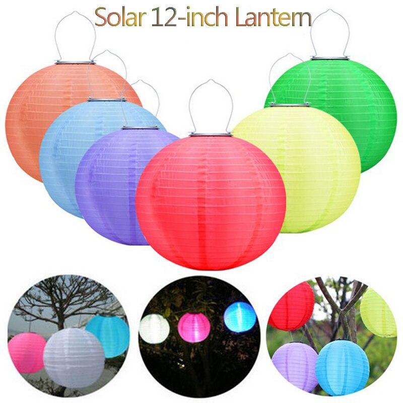 LED güneş işık açık havada su geçirmez IP44 12 inç 600MA 8 saat Lightlife renkler fenerler bahçe için ücretsiz kargo