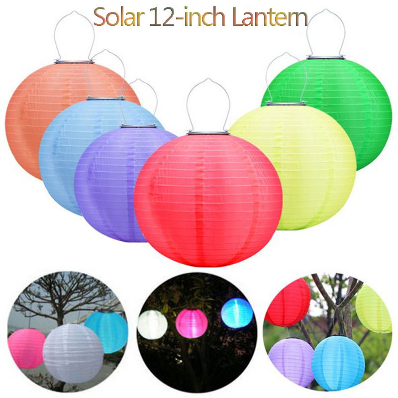 LED lumière solaire à l'extérieur étanche IP44 12 pouces 600MA 8 heures Lightlife couleurs lanternes pour jardin livraison gratuite