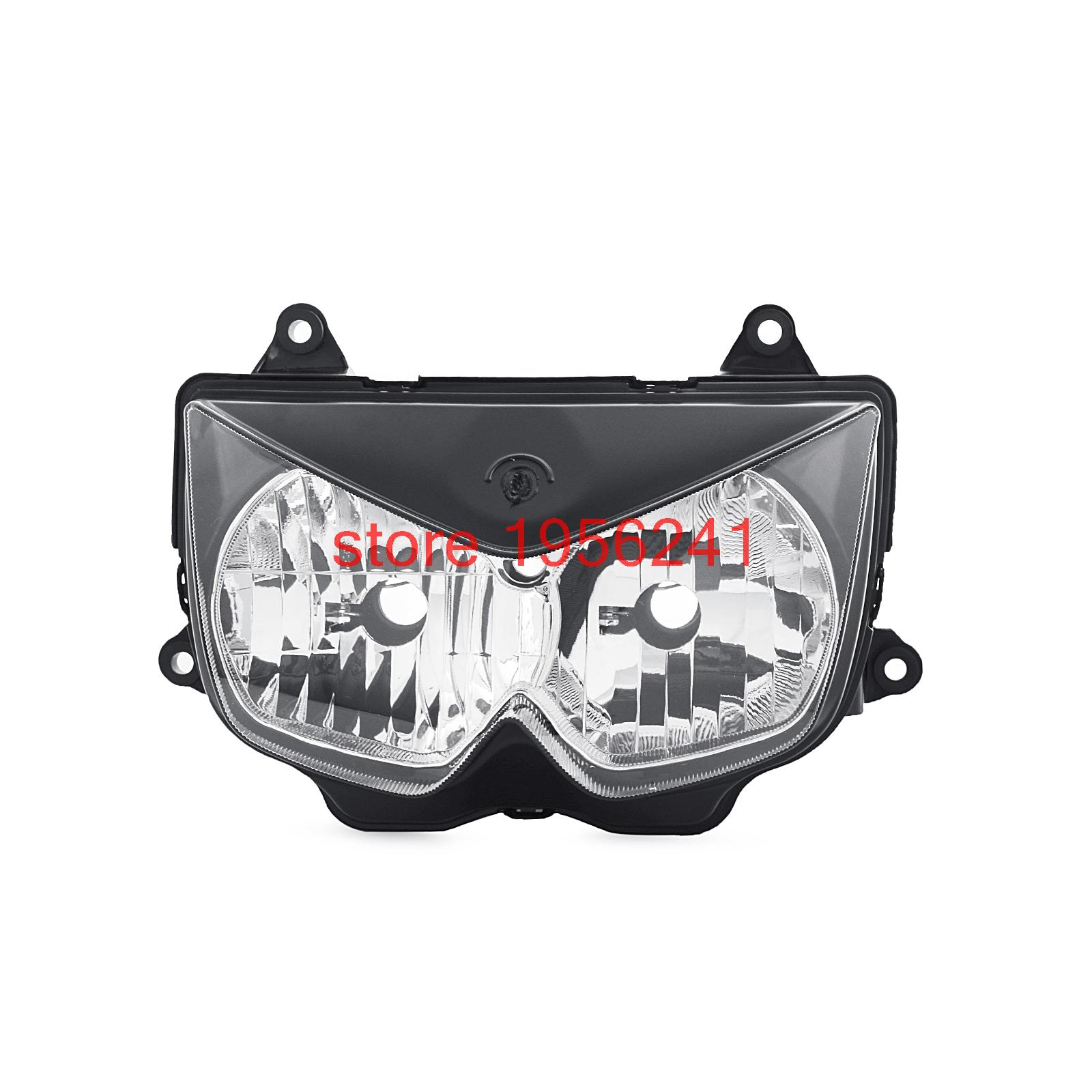 ABS Plastic Motorcycle  Headlight Headlamp Kit For Kawasaki Ninja 250R 2008 2009 2010 2011 2012 Replace OEM 23007-0121