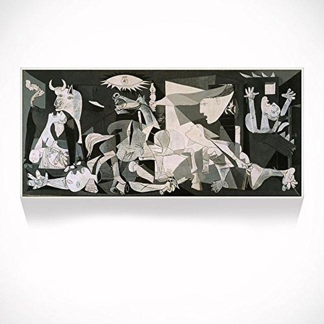 Picasso Guernica Giclee Print On Canvas Shadow Box Frame Artwork For Home
