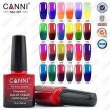 6pcs CANNNI 7.3ml nail gel polish make up changing color with temperature nail gel polish chameleon nail gel UV total 24 colors
