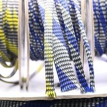 М 10 м YIVO HIFI VIABLUE Щит Подвеска экран тканая вискоза нейлон хлопок 3 ~ мм 22 мм змеиной сетки вязать плетеный кабель рукав трубки