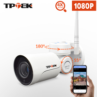 1080P 2MP PTZ IP Camera WiFi Bullet Outdoor Wireless WiFi Waterproof Camera CCTV Security Surveillance 4X Optical Zoom IP Camara