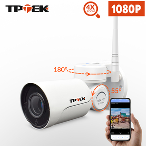 Image 1 - 1080P 2MP PTZ IP كاميرا واي فاي رصاصة في الهواء الطلق اللاسلكية واي فاي كاميرا مقاومة للماء CCTV الأمن مراقبة 4X زووم بصري IP كامارا