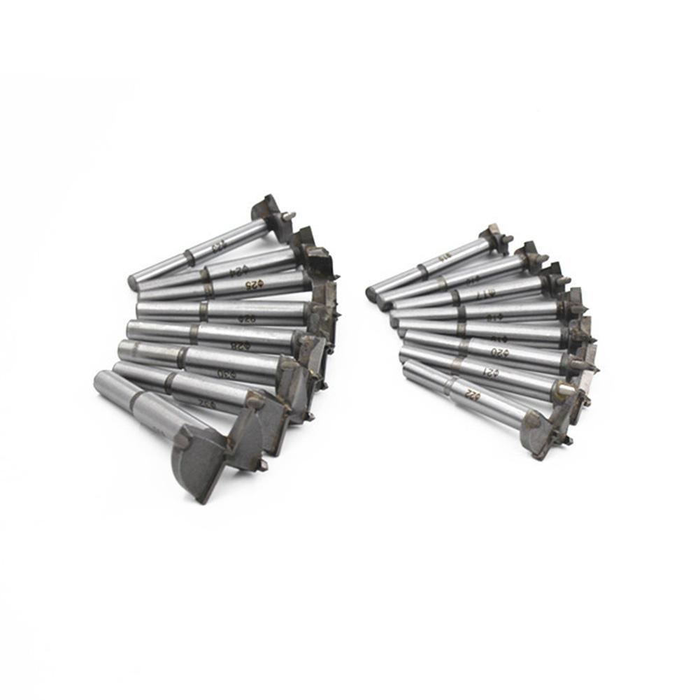 Set Of 16 / 16 Pcs Carpentry Alloy Hole Opener 15-35mm Woodworking Forstner Drill Bit Metal Alloy Cutter Multi Tool