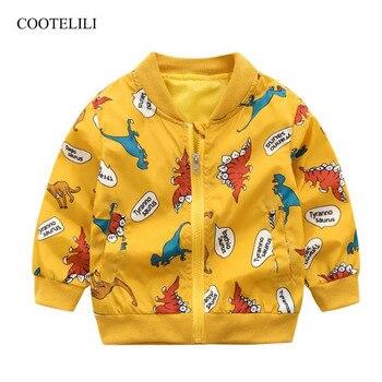 6a8dcf679 COOTELILI lindo dinosaurio infantil bebé primavera protector solar chaqueta  para niños activo con capucha primavera chaqueta niños ropa de abrigo