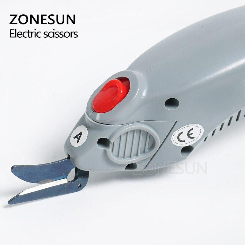ZONESUN outil de coupe du papier, ciseaux électriques sans fil, coupe papier, valise en cuir, tissu, outil de coupe du coffre - 2