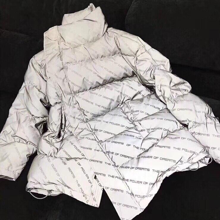 18 лучшая версия Полный письма печатаются Мощность мечты Для женщин Для мужчин длинные Стиль хлопковая стеганая куртка хип-хоп Для мужчин Те...