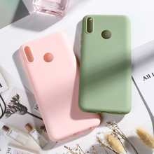 for Huawei Y9 2019 Candy Color Phone Back Shell Case For Huawei Y9 2019 /Enjoy 9 Plus Soft Silicone Back Cover Fundas Coque Capa funny stitch case soft silicone phone case for huawei y9 2018 capa fundas coque for huawei y9 2019 silicone cover honor 8x cases