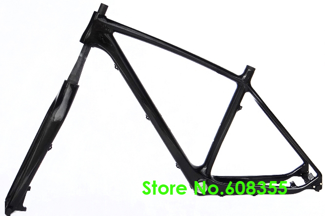 full carbon ud glossy mtb mountain 650b 275er bike bicycle bsa frame fork 17 19 rear axle 142mm x 12