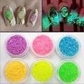 3g/Bottle Deslumbrante Noctilucent Luminoso Glitter Polvo de Uñas de Arte Del Brillo Brillante Decoración