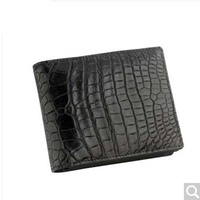 luolaini 2018 new men wallet crocodile skin purse men bag balck brown fashion leisure belly