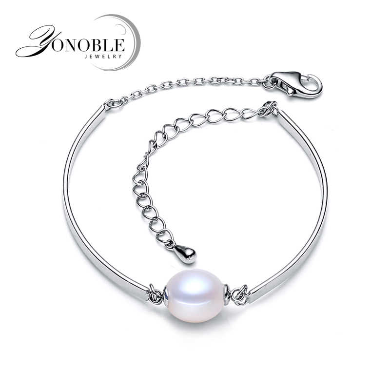 Real pearl bracelet for women,925 sterling silver bracelet men,wedding freshwater pearl bracelet jewelry girl birthday gift gold