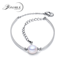 Real ankle bracelet genuine 925 sterling silver men,wedding freshwater pearl jewelry girl birthday gift