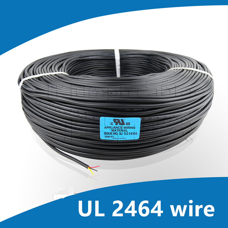 UL 2464 cable 2C/3C/4C 24 26 28AWG Multi-core PVC Tinned copper wire Shielded audio signal jackets audio copper wire tpi taperwire audio wire